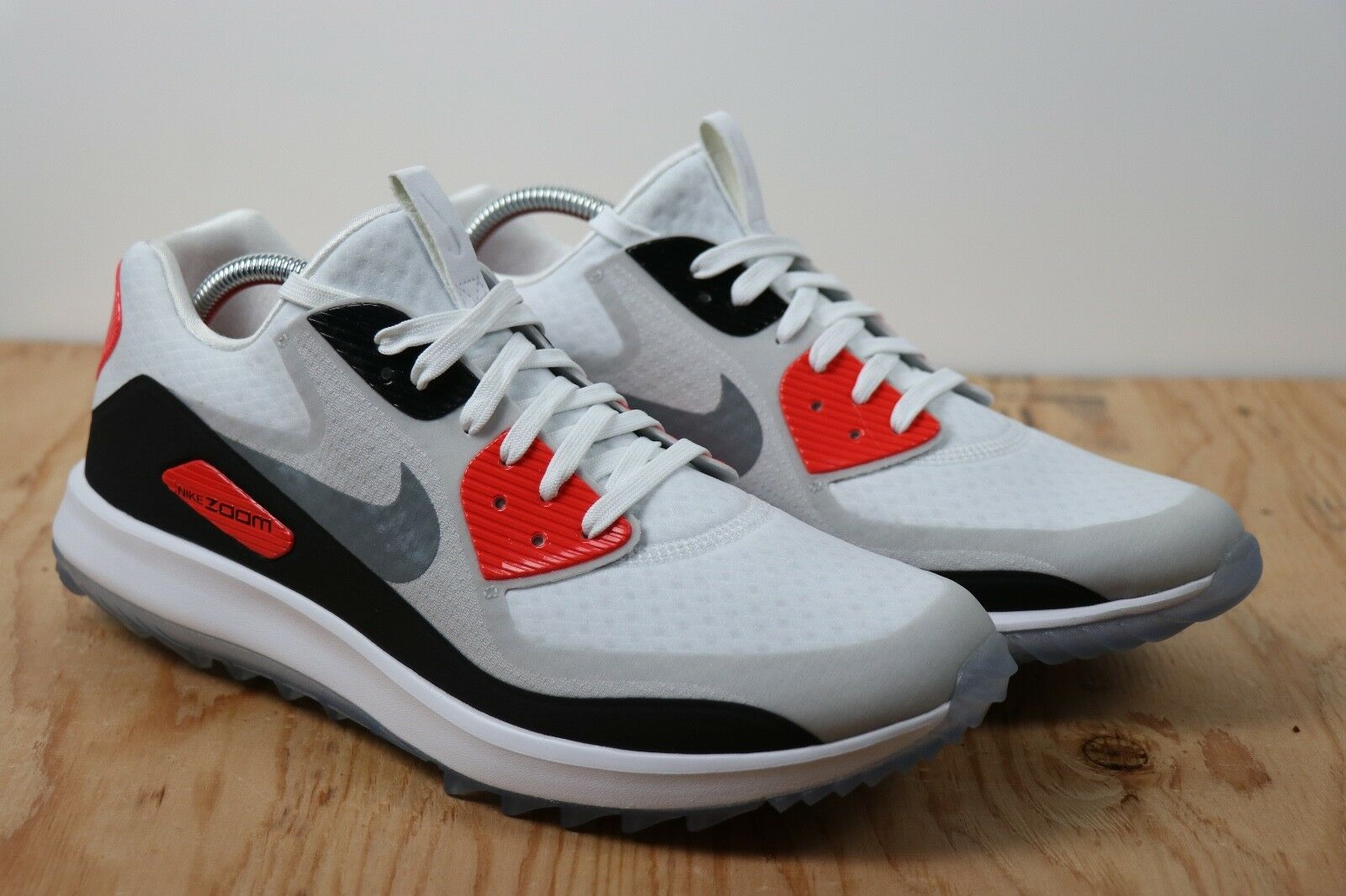 Nike Air Zoom 90 IT Golf Shoes Infrared Red White Gray Rory Mcilroy New Women 8