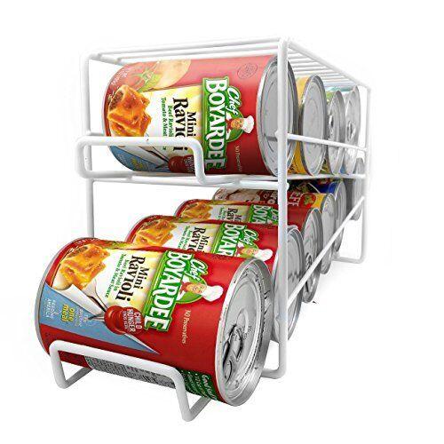 Soda Can Beverage Dispenser Rack Holds 12 Standard Size 12oz Soda Cans