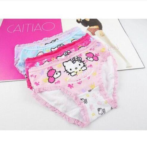 1pc Kids Girls Children Hello Kitty Underwear Pantie flat Undies Bottoms 2-8yrs