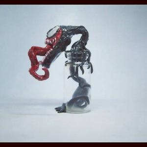 Venom symbiote out from bottle Spider Man Marvel Villain CHARM PENDANT
