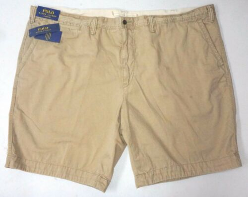 NWT $85 Polo Ralph Lauren Classic Fit Pony Chino Shorts Mens Flat Cotton NEW Tan