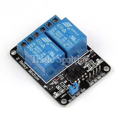 5V 2 Channel Relay Module For Arduino ARM PIC AVR DSP MCU Electronic Opto-couple