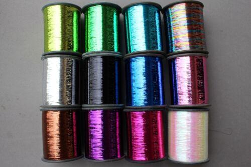 1 Spool 8000m 0.3mm Tinsel Flashabou Flat Mylar Sparkle Flash Fly Tying Material