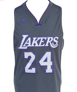 9a6e9cdc697 Los Angeles Lakers Kobe Bryant  24 Gray Limited Edition Swingman ...