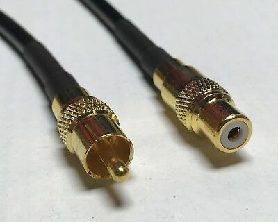 RCA Male to SMA Female Pick Your Length RG58 Coax Cable 50ohm USA High Quality