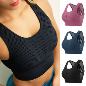 Women-Lady-Yoga-Bra-Top-Fitness-Mid-Support-Activewear-Seamless-Sports-Crop-Tops