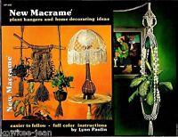 Macrame Patterns: Owl, Plant Hangers, Home Decor, Lamp Shades. Vintage. 1976