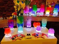 12 Led Light Bases 15 White Lights Wedding Table Decoration Light Up Water Beads
