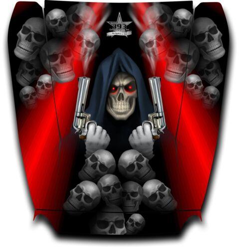 Arctic Cat Wildcat Graphic Decal Sticker Wrap Grim Reaper Revenge Hood Red