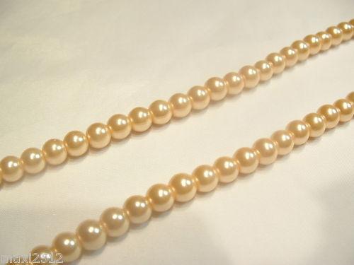 pcs x Glass Pearl 8mm Round Beads #84A Mel Yellow 100