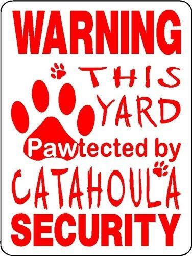 CATAHOULA DOG SECURITY ALUMINUM SIGN  DECAL D3255