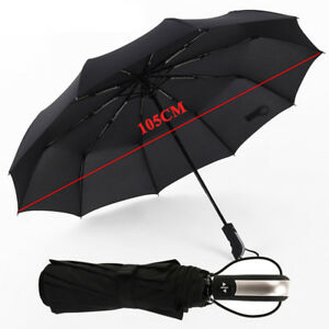 Fully-automatic-Three-Folding-Umbrellas-10Ribs-Strong-Frame-Windproof-Parasol