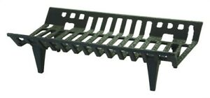 Vestal 324ML Black Painted Cast Iron Fireplace Grate 14-3/4 D in.