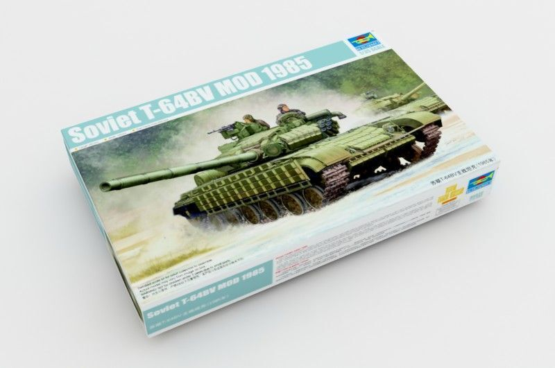 05522 Trumpeter 1 35 Model Soviet T-64BV MOD 1985 Main Battle Tank Kit Armored