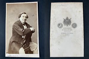 Mulnier, Paris, Giovanni Zucchini, baryton Vintage cdv albumen print.Giovanni