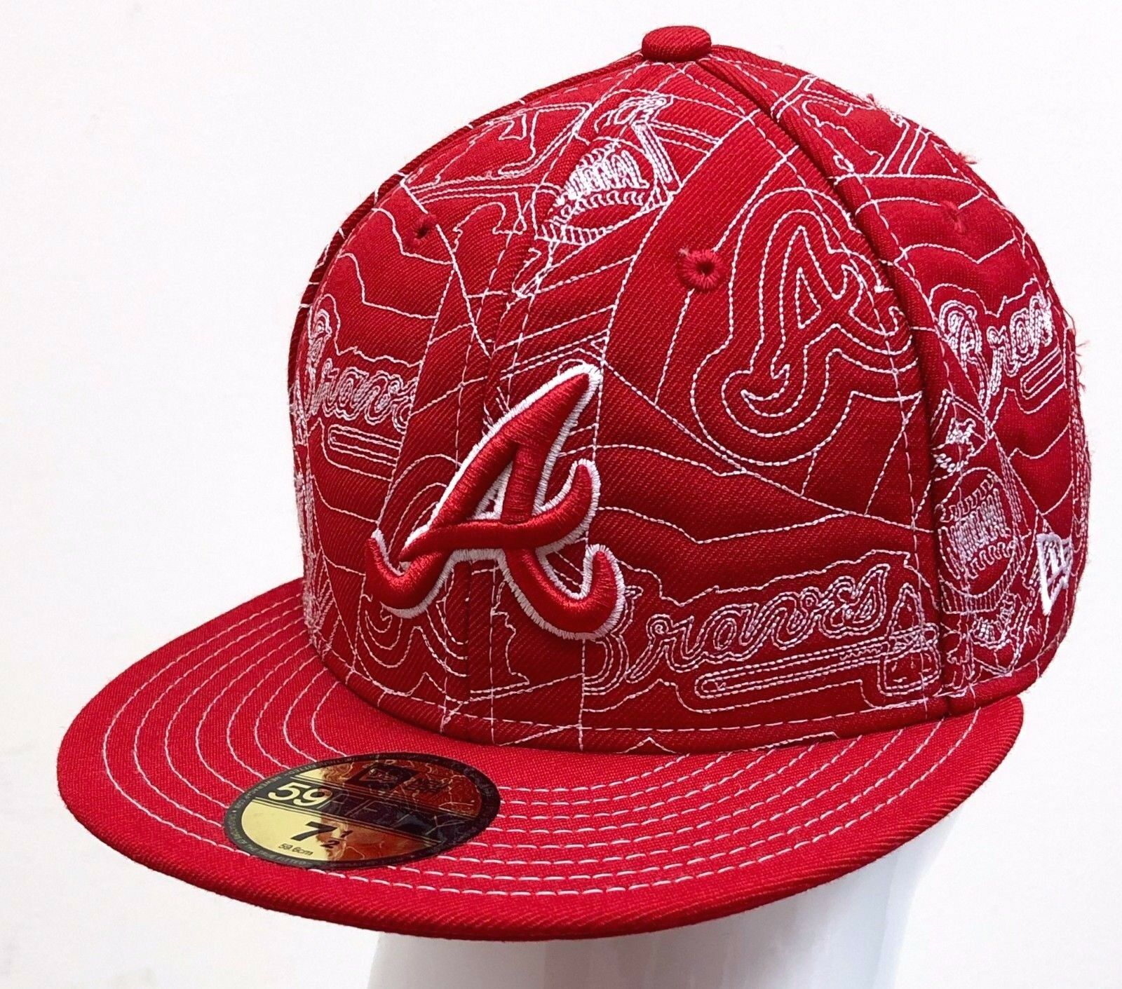 online store c6337 c9365 ... clearance new braves era 59fifty puffy atlanta braves new red white  612bd5 8b6a5 9c2fb