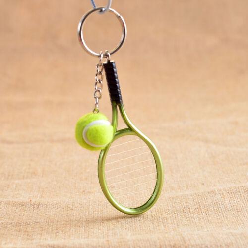 3D Raquette de tennis raquette de tennis Split Porte-clés balle de tennis Key Chain Link Chaîne