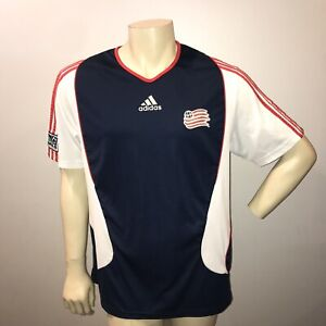 official photos f0b15 d775a Details about New England Revolution Jersey XL Adidas Clima Cool MLS Soccer  Polo Shirt USA XL