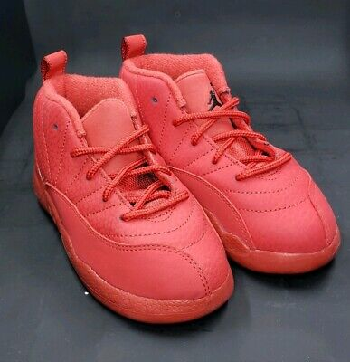 reputable site 97c06 4e90d Nike Jordan 12 Retro TD XII AJ12 Bulls Toro Red Toddler Size 10C 850000-601  191887999348 | eBay