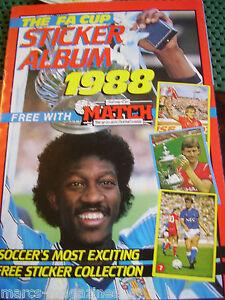MATCH-1988-FA-CUP-FOOTBALL-STICKER-ALBUM-BOOK-EMPTY