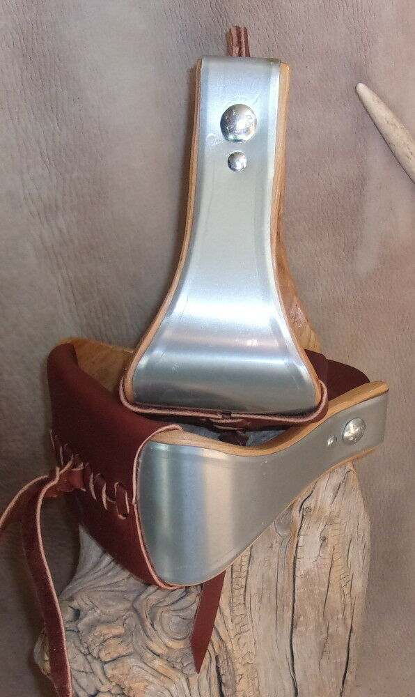 New US Made Metal Bound 4   Bell Stirrups + Tread Leather, For Saddle. G&E