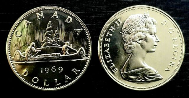 Canada 1969 Proof Like Gem Voyageur Nickel Dollar!!