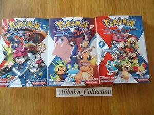 Lote-Manga-VF-Pokemon-X-y-XY-1-2-3-Kurokawa