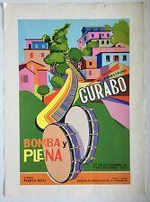 Ed Vera Cortez, Bomba Y Plena Gurabo Serigraph (cartel) 1985, Puerto Rico Art