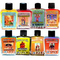 Saints & Angel Spiritual Oil Many Names- Aceites Espirituales Anoint Spell Wicca