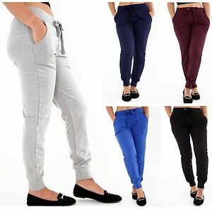 9de60a5b78 Image is loading Ladies-Tracksuit-Bottoms-Womens-Joggers-Trousers-Jogging -Gym-