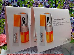 SALE-2PCS-Clinique-Fresh-Pressed-System-With-Pure-Vitamin-C-034-Cleanser-amp-Boost