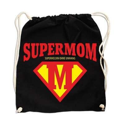 Rucksack Tasche Beutel Muttertag Super Mom Mama Geschenk Coole Idee Geburtstag