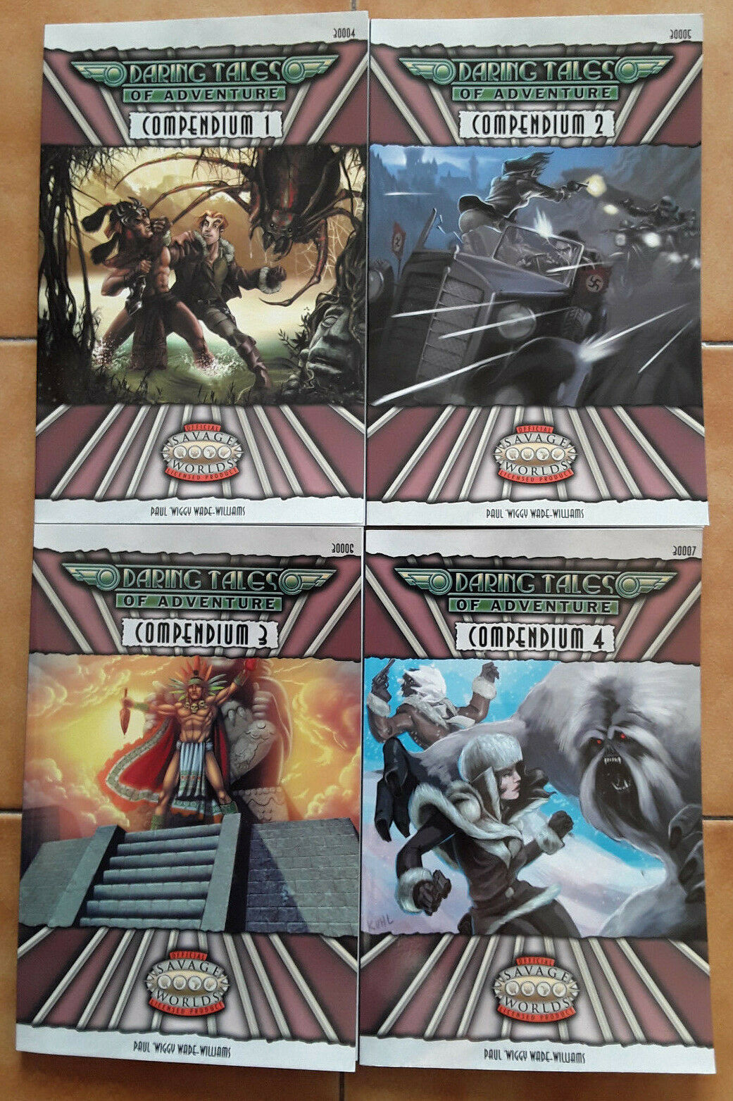 Savage Worlds Daring Tales of Adventure Compendium 1  2 3 4 Triple Ace Games