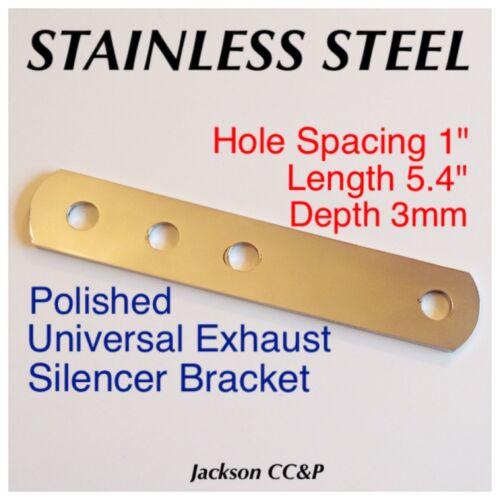 Universal Exhaust Silencer Bracket 5.4/' Cafe Racer//Bobba Custom Stainless Steel