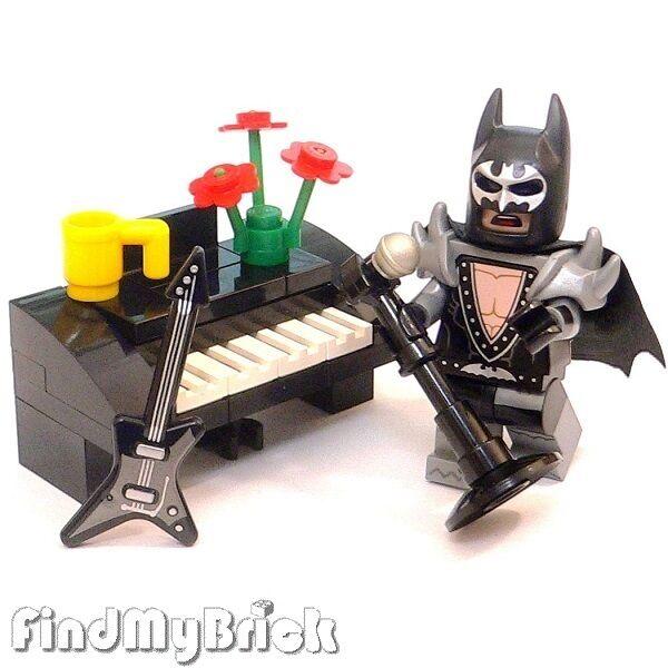 Guitar Microphone Minifigure Batman Metal Glam Musical Lego