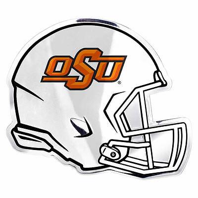 """NCAA Licensed Oklahoma Sooners Helmet Premium Aluminum Emblem 4/""""x3.5/"""""""