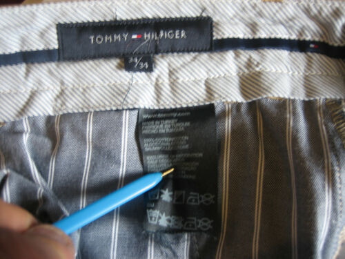 Leg Waist Mens Fly Hilfiger Bb19 34 Brown Trousers Chino Zip Tommy Madison BRwHxaP