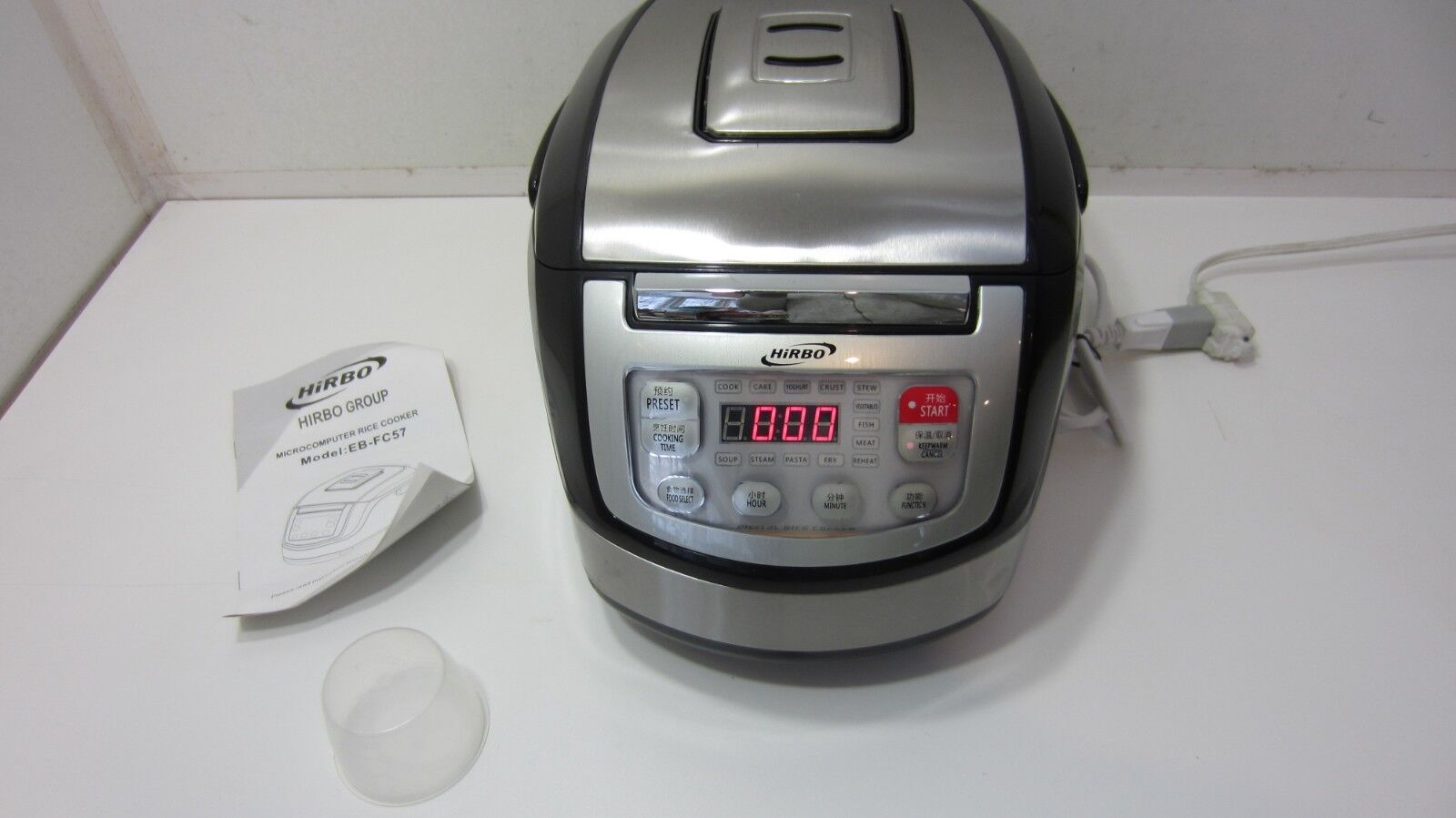 Hirbo EB-FC57 Asian Style 13 in 1 Multifunctional 5-Liter Rice Cooker