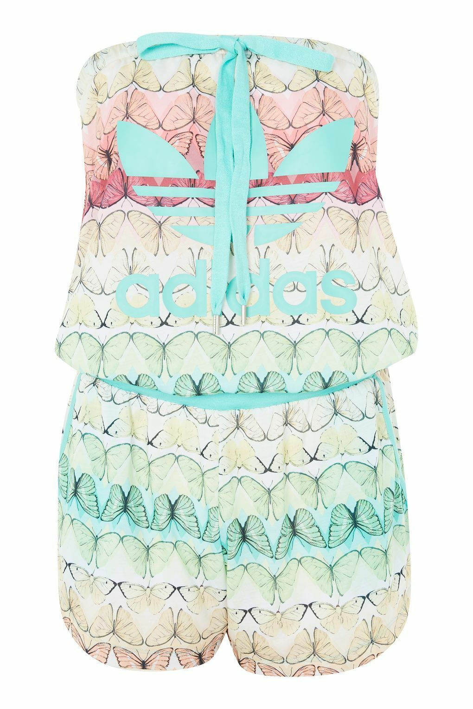 NEW Adidas Originals Trefoil Butterfly Jumpsuit Playsuit Womens Girls Size 8
