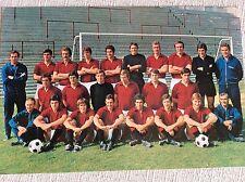 CARTOLINA CALCIO AC TORINO CAMPIONATO 1970/71 SCHIERATA CON AUTOGRAFI CALCIATORI