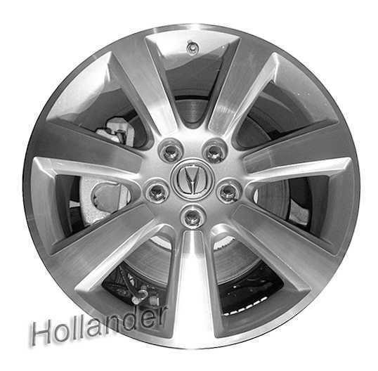 Wheel 19x8.5 Alloy 7 Spoke MACHINED SILVER Fits 10-13