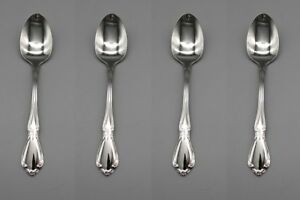 SET-OF-FOUR-Oneida-Stainless-Flatware-CHATEAU-Teaspoons-NEW