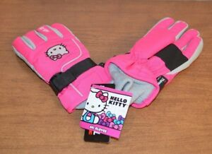 9294b191a New 3M THINSULATE pink Hello Kitty Insulated Ski snow Gloves Girls ...