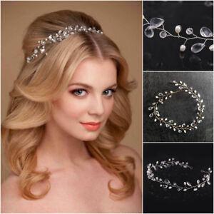 Haarkette Hochzeit Perlen Haarschmuck Kette Haarband Braut Diadem