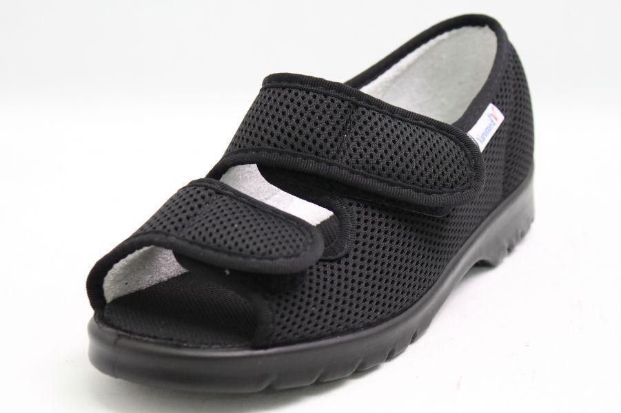 Varomed Spezialschuhe schwarz Klettverschluss H Coolmax Schuhweite H Klettverschluss 1/2 c8bfba