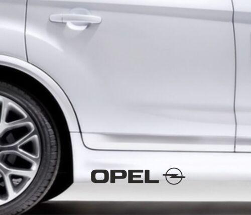 2x Side Skirt Stickers Opel Logo Premium Qaulity Graphics Decals VL69