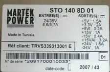 Martek Power Rail System 24v36v Equipped Power Supply Sto1408d01 Trvs339313001