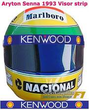 VISIERA CASCO ADESIVO AYRTON SENNA f1 VENTILATORE ANNI 1990 Racing