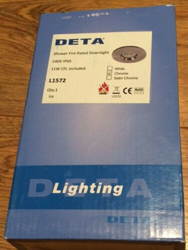 DETA L1572 douche feu Évalué Downlight Chrome 240 V IP65