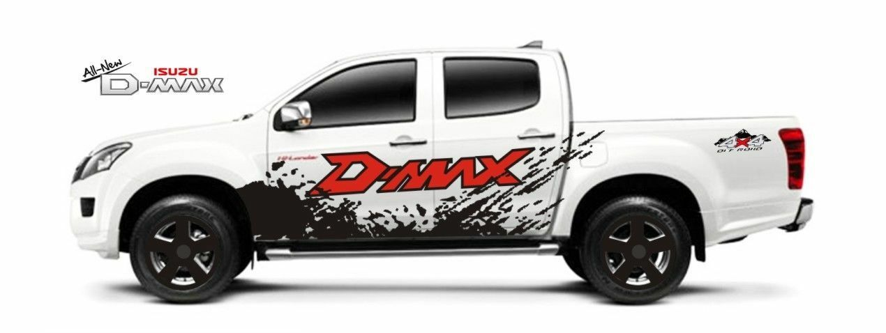 Ford Raptor For Sale >> MATTE BLACK COLOR STICKER COVER DECAL VINYL 4 DOOR FOR ISUZU DMAX D-MAX 12 13 14